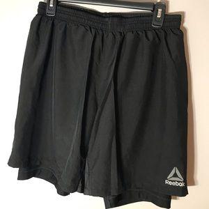 Reebok Speedwick Black Gym Shorts. Size L.